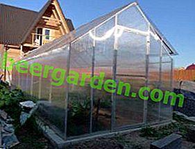 Do-it-yourself-Gewächshaus mit einem Polycarbonathaus
