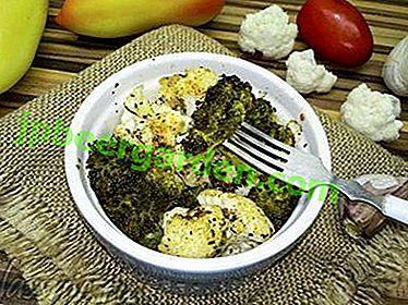 Un accompagnement délicieux et sain de brocoli et de chou-fleur.  Recettes de cuisine