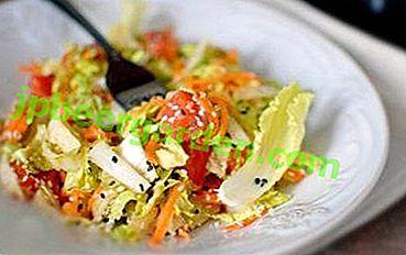 Wahnsinnig lecker und gesund: ein Salat aus rotem Fisch und Pekinger Kohl!