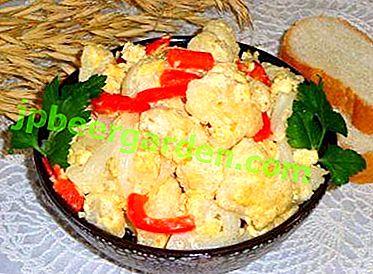 Einfach, aber mit ausgezeichnetem Geschmack: Blumenkohl mit Ei, in einer Pfanne gebraten