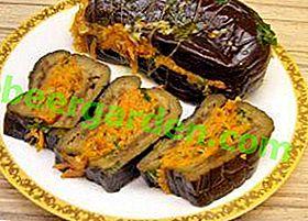 Recettes utiles pour les préparations d'hiver: aubergines marinées farcies de carottes, ail et autres légumes