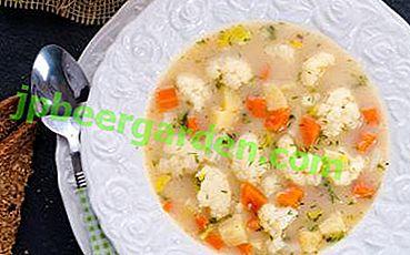 Jak gotować dietetyczną zupę warzywną z kalafiora?  Klasyczny przepis i jego odmiany