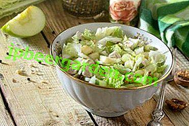 Rapide et savoureux: recettes et variations de salade au chou de Pékin et à la pomme
