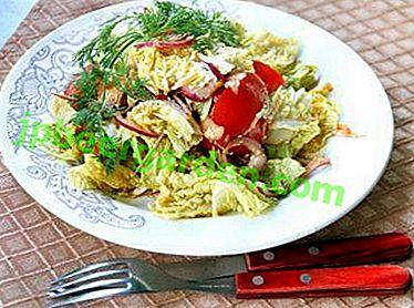 Et pour tous les jours, et sur la table de fête - Salades de chou de Pékin aux tomates