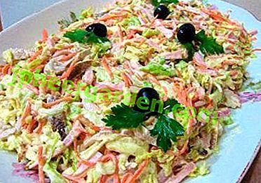 Viele leckere Anastasia Salat mit Pekinger Kohl